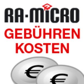 Leider Ausgebucht! Gebühren & Kosten mit RA-MICRO